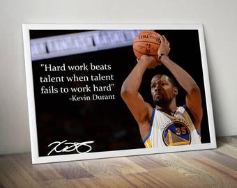 Kevin Durant Inspirational / Motivational Poster