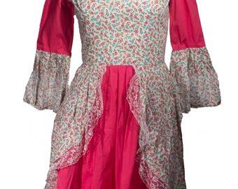 Vintage Handmade Bell Sleeve Prairie Dress