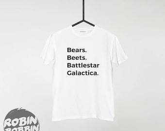 The Office - Bears. Beets. Battlestar Galactica - Dwight Schrute Quote - Michael Scott - Jim Halpert - The Office T-Shirt - Funny Office