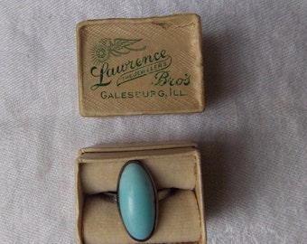 Sterling Silver Blue vintage Ring 925 Vintage Jewelry