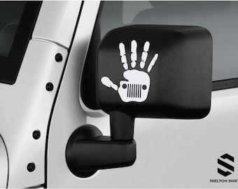 Jeep Wave W Grill Decal Pair Set Of Two Left And Right