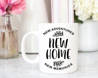 New Home Mug | Housewarming Gift | Housewarming Mug | New Home New Adventures New Memories | Coffee Cup New Home Owner | Giftable Goodies