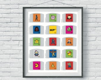 Nintendo N64 Cartridge - A2 Poster