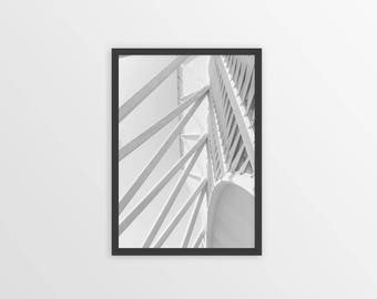Architectural Print - Urban Poster - Wall Art - Architectural Photography - New York Photography - Black and White Photography