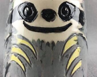 Cute Handmade Sloth Shaped Ceramic Mug - 'The Zannah'