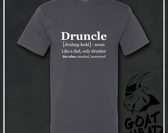 Funcle, Druncle, Brother Gift, Funcle Shirt, Drunk Shirt, Fun Uncle Shirt, Uncle Gift, Fun Uncle, Funcle Tee Shirt, Humor Shirts, Bad Idea