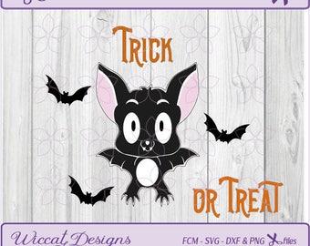 Halloween svg, cute bat svg, kids svg, bat svg, scanncut, halloween svg file, trick or treat, dxf cut file, halloween dxf, funny bat svg