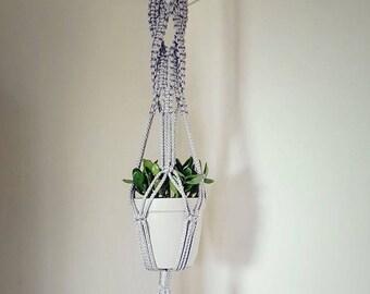 Macrame Plant Hanger for small/medium plants -- 40 inches, interior home decor, boho decor, modern decor