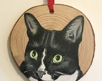Custom pet portrait ornament