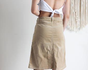 Vintage Corduroy Midi Skirt