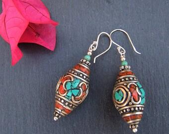 Tibetan earrings. Tibetan Jewelry. Ethnic earrings. Ethnic Jewelry. Tibetan earrings. Ethnic jewelry. Tibetan Jewellery.
