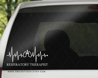 Respiratory Therapist RT Vinyl Decal Sticker for Car Windows, Laptop, Tumblers, Books, and more!
