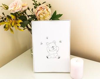 Pooh Bear Print
