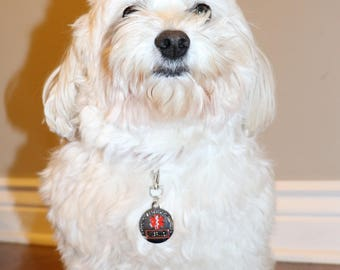 ALL ACCESS CANINE™ Choose Between: Service Dog Emotional Support Animal Esa Metal Dog Collar Tag