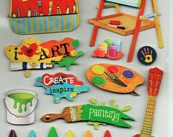 Artist 3d Pop Up Scrapbook Stickers Embellishments Cardmaking Crafts