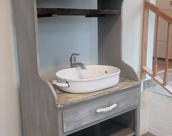 Free shipping... Available! Farmhouse Style Rustic Bathroom Vanity. Ready to ship