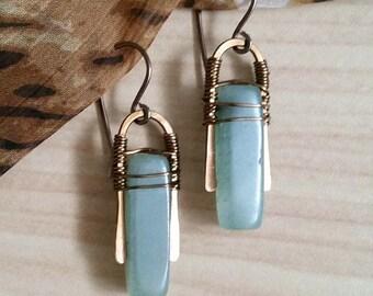 Aventurine Stone Earrings