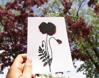 Small poster - flower - Poppy - 5x7