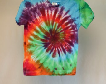 Size 2 - Ready To Ship - Unisex - Children - Kids - Tie Dyed T-shirt - Tee's - 100% Cotton - FREE SHIPPING within Aus