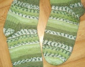 woolen socks Knitted needles