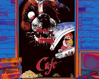 "Illustrated Stephen King ""Cujo"" movie poster"