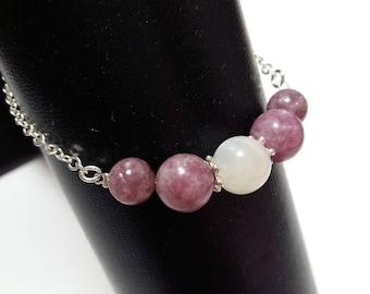 Fertility bracelet / fertility / pregnancy desire: Moonstone & pink tourmaline