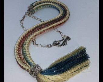 Tasseled Hira Yatsu Necklace