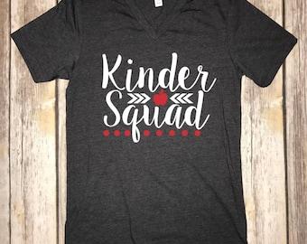 Teacher Grade Level Shirts Kinder Squad First Grade Second Third Fourth Fifth
