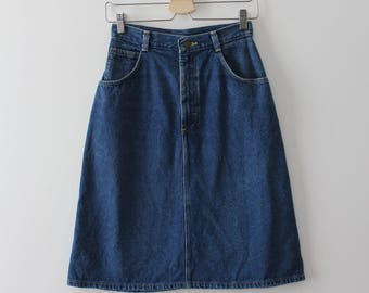 vintage 1970s denim skirt