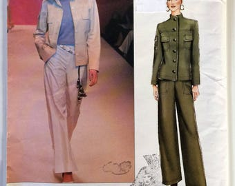 Yves Saint Laurent Vogue Paris original sewing pattern 2410 - Misses' jacket and pants size 8-10-12