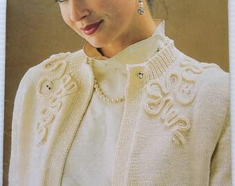 Vintage Patons Bluebell ladies knitting pattern book 763