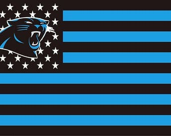 SUMMER SALE Carolina Panthers Team Flag and Banner 3' x 5'