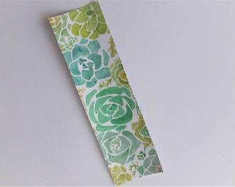 Made to Order: Succulents hand painted  watercolour bookmark
