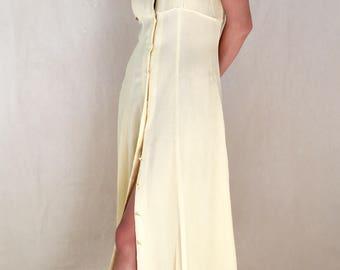 Vintage Sunrise Button Front Dress
