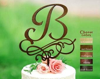 Letter b cake topper, Gold Initial Cake Topper, Wedding Cake Topper Single Letter, Single Letter Cake Topper, Monogram Cake Toppers, CT#307