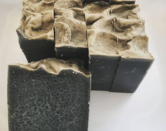 Activated Charcoal Cold Process Soap Old Fashioned Soap Natural Soap Artisan Soap Oakmoss Sandalwood Amber Cedarwood