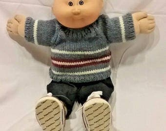 Vintage 1978 1982 Cabbage Patch Kids Doll Boy Blonde Hair Blue Eyes Coleco Brand