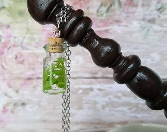 Harry Potter inspired Gillyweed pendant necklace