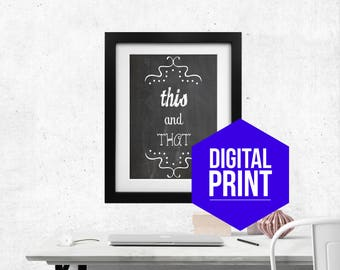 Cookbook Section Print Miscellaneous This and That Food Print Kitchen Art Food Art Digital Print Food Poster Kitchen Decor Kitchen Wall Art