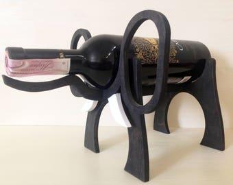 unique wine rack wooden wine bottle holder black elephant wooden wine rack made of wood thickness - Wooden Wine Rack