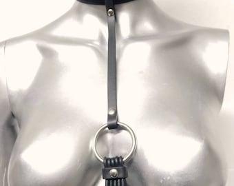 FETISH CHOKER, sexy handmade necklece, unisex black designer jewellery, techno party design,  vegan necklace, orginal rubber jewelry, tribe