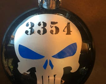 Thin Blue Line, police Christmas Ornament,Personalized Police Officer Gift,Policeman Christmas Gift,Thin Blue Line Gift,police gift