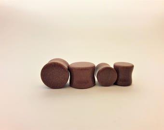 Goldstone ear plugs, stone ear plugs,
