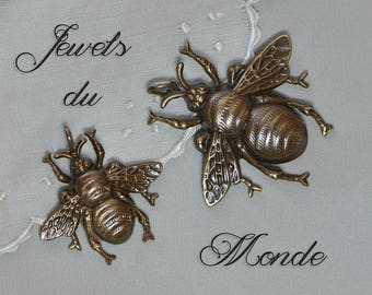 Victorian Style Pendant Bumble Bee Finished Antiqued Brass Made in USA