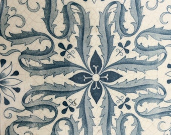 Authentic Minon Stoke on Trent Fireplace Complete Set of Ten blue and White Floral