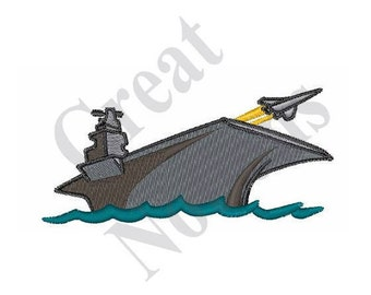 Aircraft Carrier - Machine Embroidery Design