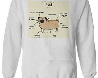 Pug Anatomy Sweatshirt Pug jumper
