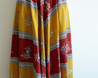 Souleiado French provençal cotton full skirt