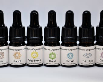 Chakra Oils - Energy healing, chakra balancing, herbal topical oils