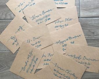 Hand Lettered / Calligraphy Envelope Addressing